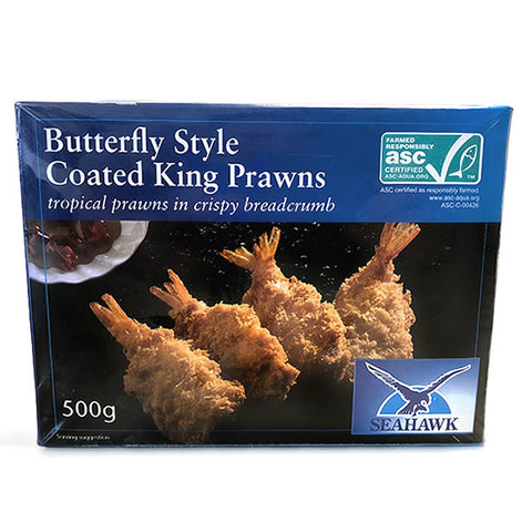 Butterfly Style Coated King Prawns