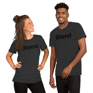 Blend with AMP Logo Right Sleeve Short-Sleeve Unisex T-Shirt
