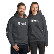 Load image into Gallery viewer, BLEND Hoodie with AMP Logo right sleeve. Unisex Hoodie