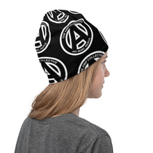 Load image into Gallery viewer, AMP Logos Neck Gaiter Black with White