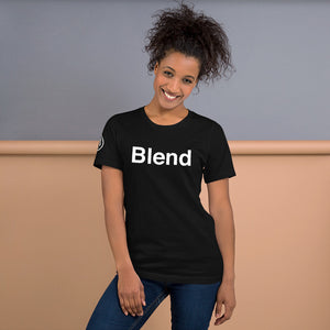 Blend Tee Shirt with AMP Logo on right sleeve Unisex Tee Shirt
