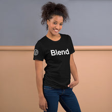 Load image into Gallery viewer, Blend Tee Shirt with AMP Logo on right sleeve Unisex Tee Shirt