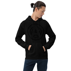 The AMP Collective Logo Unisex Hoodie Black on Black