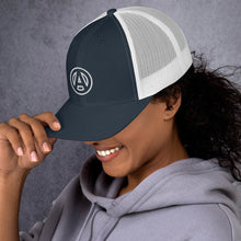 Load image into Gallery viewer, AMP Logo Trucker Cap - White logo