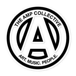 The AMP Collective Logo Sticker - Art, Music, People.