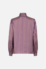 Satin stripe blouse