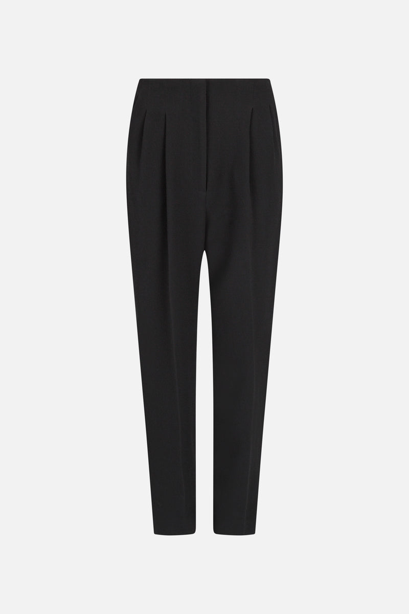High Waisted Crepe Trousers