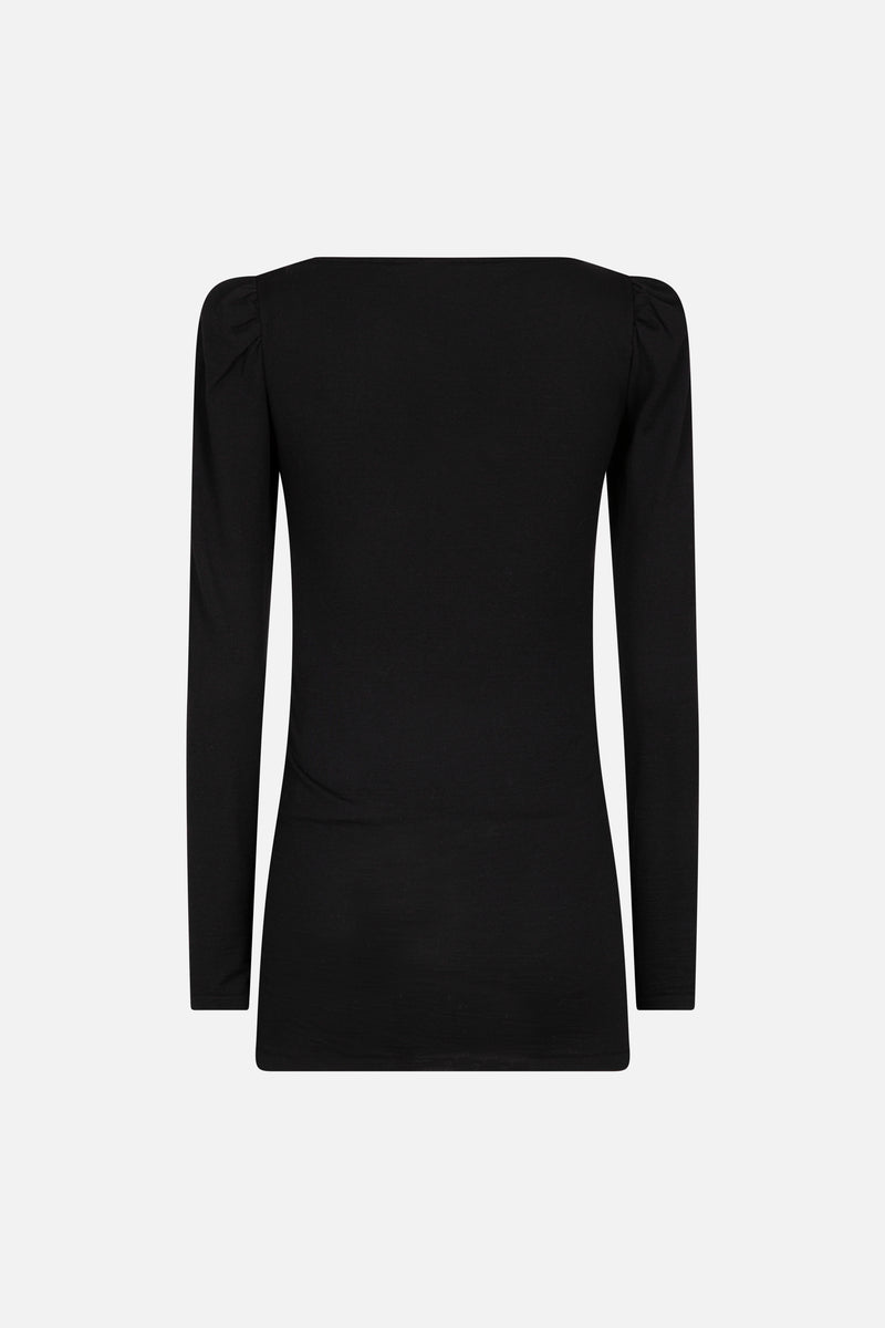 Stretch Wool Jersey Top