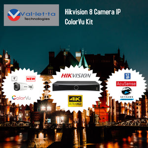 Hikvision 8 Camera IP ColorVu Kit