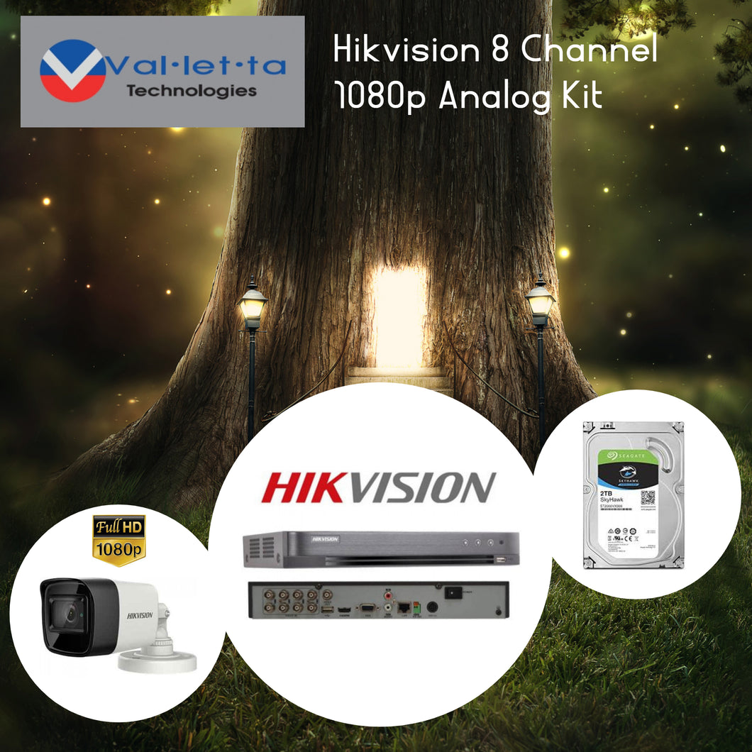 Hikvision 8 Channel 1080p Analog Kit