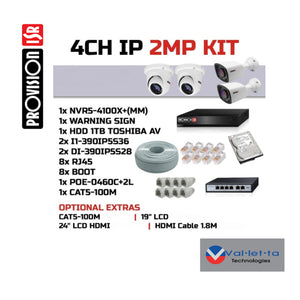 Provision 4 Channel 1080p IP Kit