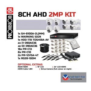 Provision 8 Channel 1080p Analog Kit