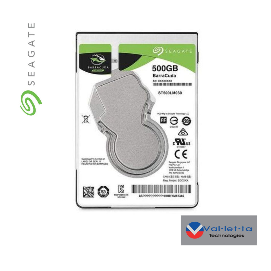 Seagate 500GB Barracuda HDD  SKU: ST500LM030