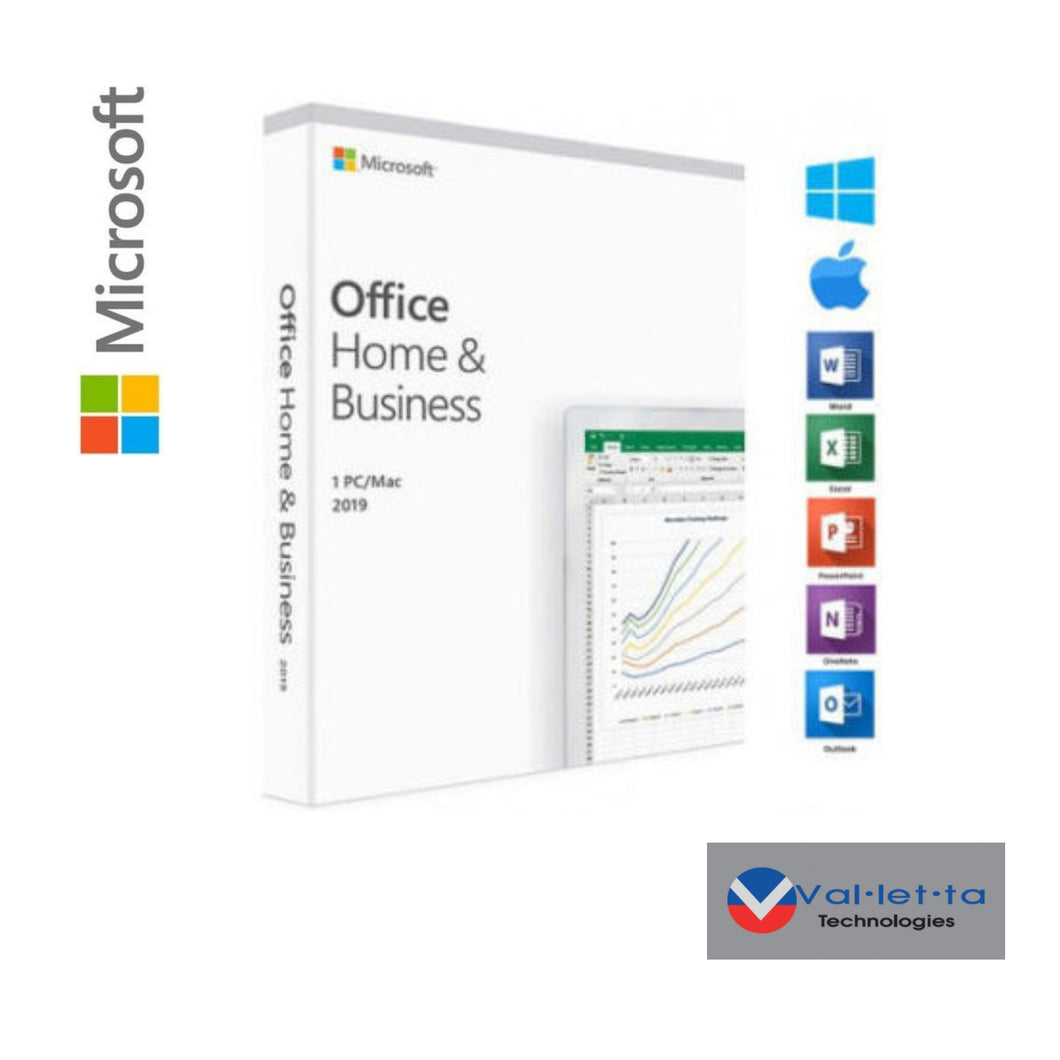 Microsoft Office Home and Business 2019 - Medialess - DSP  SKU: T5D-03346-SDD
