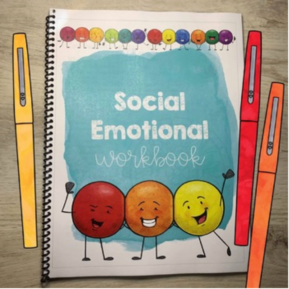 Social Emotional Learning Workbook for Elementary and Lower Middle School (digital file only)