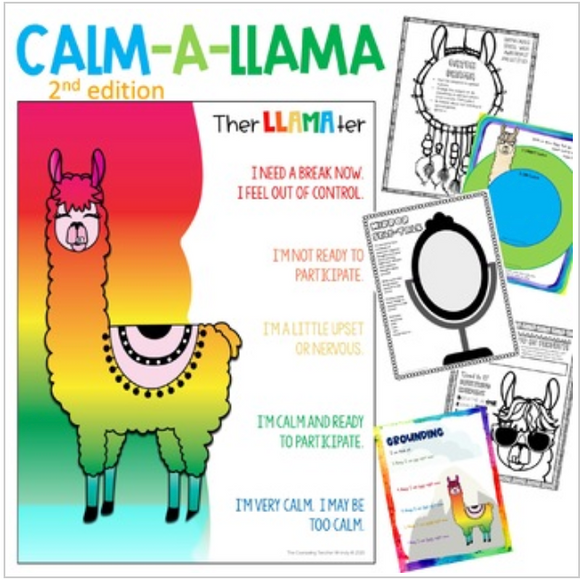 Worry Workbook by the Calm-a-Llama for 3rd-7th grade