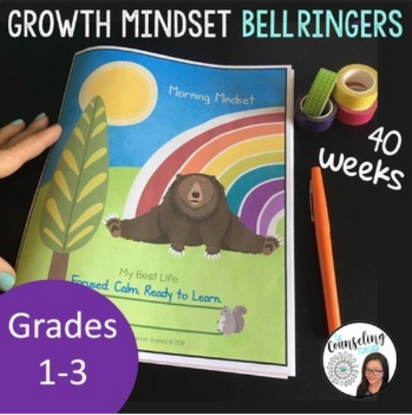 40 week Growth Mindset & Mindfulness Journal Grades 1-3 (digital file only)