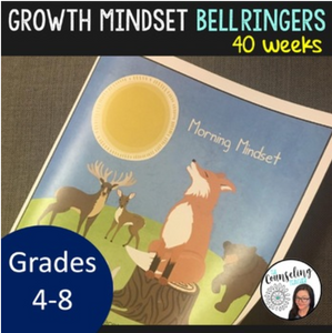 40 week Growth Mindset and Mindfulness Journal Grades 4th -7th (digital file only)