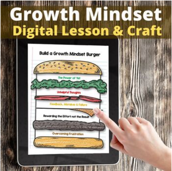 Growth Mindset Digital Lesson and Printable Craft