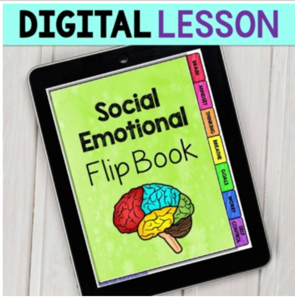Distance Learning Social Emotional Flip Book for Teens