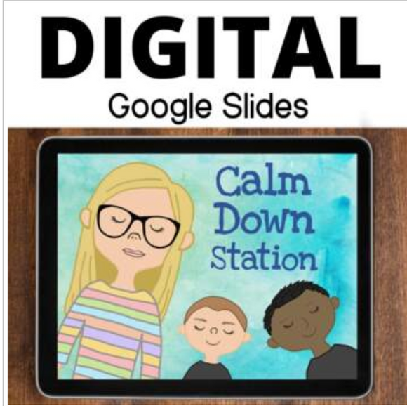 Calm Down Corner for Google Slides for 2nd-5th grades