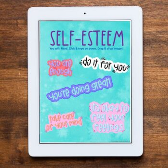 Self Esteem Distance Learning for Google Classrooms