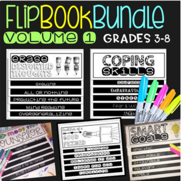 Social Emotional Learning Flipbook Bundle for Upper Elementary and Middle School