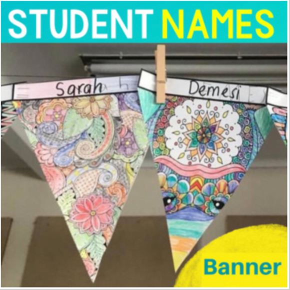 Mindful Calming Banner with Student Names