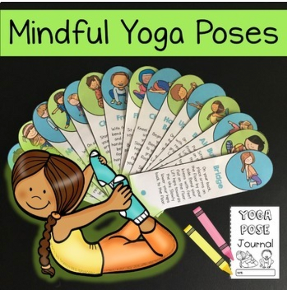 Mindfulness Yoga Pose Cards and Journal for 2nd-6th grade