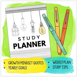 Student Planner with Study Strategies