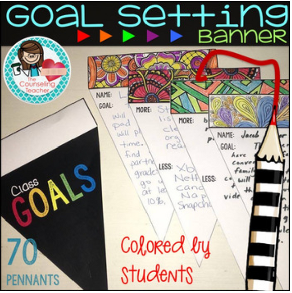 Goal Setting Banner Craftivity