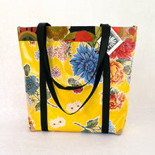 Load image into Gallery viewer, Market bag in yellow oilcloth