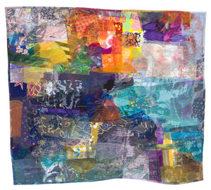 Skin Deep, stitched textile collage