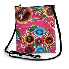 Load image into Gallery viewer, Fuschia oilcloth cross-body bag with lanyard strap from Tallulah Art•Head