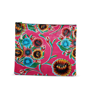 Fuschia oilcloth large zipper pouch from Tallulah Art•Head