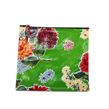 Load image into Gallery viewer, Green oilcloth large zipper pouch from Tallulah Art•Head