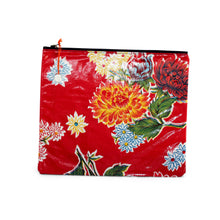 Load image into Gallery viewer, Red oilcloth large zipper pouch from Tallulah Art•Head