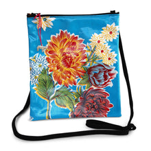 Load image into Gallery viewer, Turquoise oilcloth cross-body bag with lanyard strap from Tallulah Art•Head