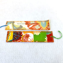 Load image into Gallery viewer, Front and back of oilcloth Fortune Bookmark from Tallulah Art•Head