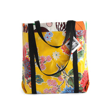 Load image into Gallery viewer, Yellow oilcloth market bag from Tallulah Art•Head