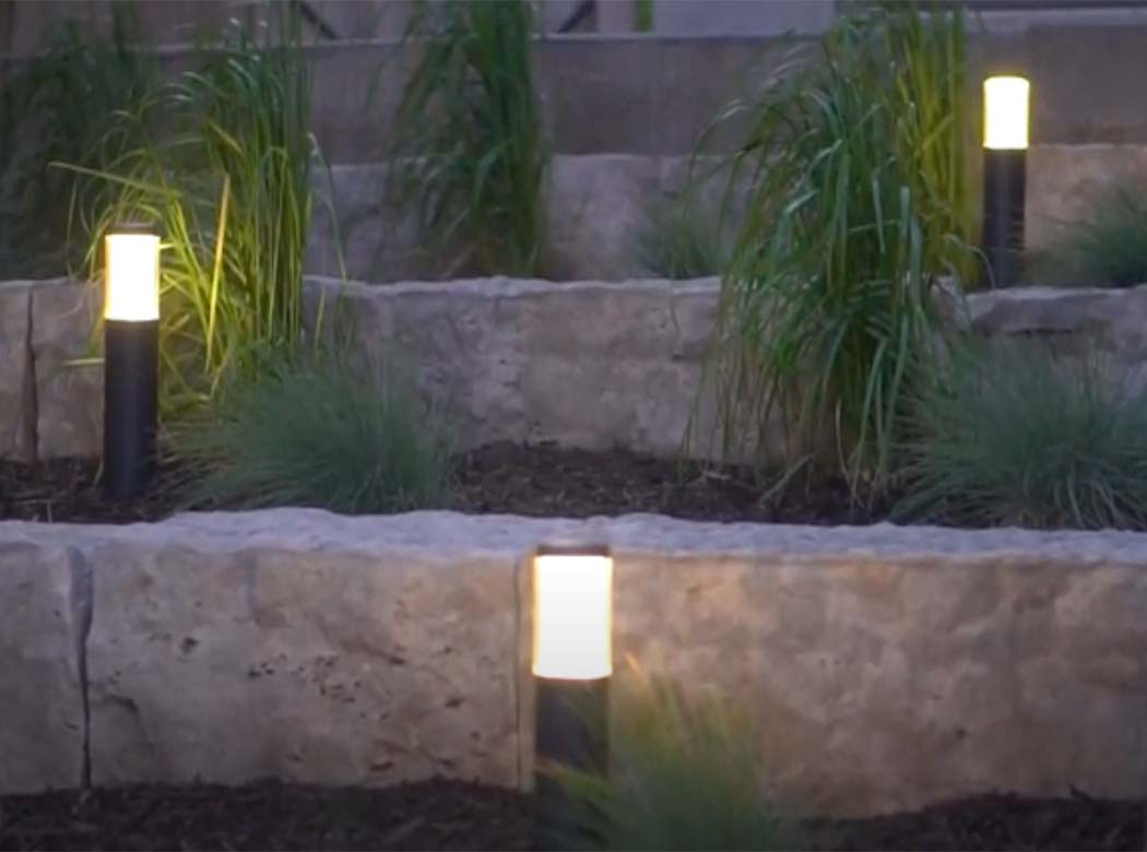 How to easily light up your front garden.
