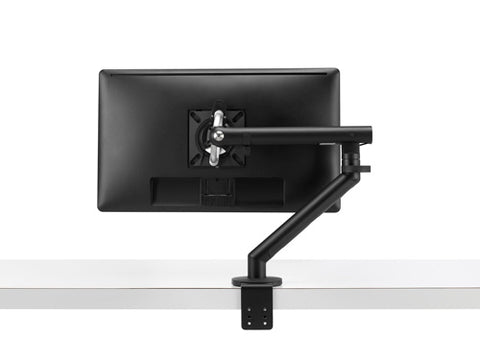 back view of the black monitor stand