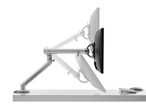 The monitor stand is easily adjustable for different eye levels.