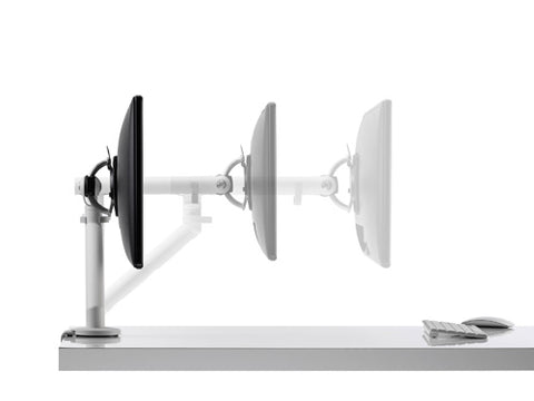 The monitor stand can adjust closer to suit your vision