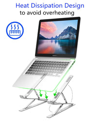 Laptop Stand | Aluminium, Portable & Foldable (double height)