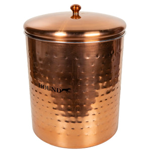 Hound Hammered Copper Treat Cannister