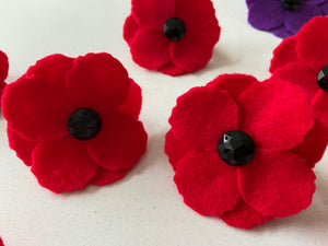 Remembrance Day collar poppies