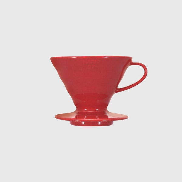 Hario V60 Dripper 02 Ceramic Red Basic Barista