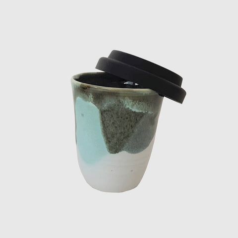 handmade ceramic travel coffee keep cup