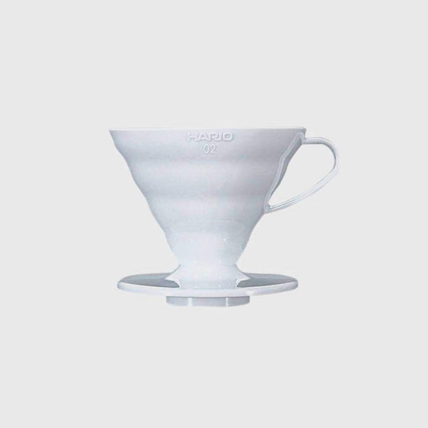 Hario V60 Dripper 02 White Plastic Basic Barista